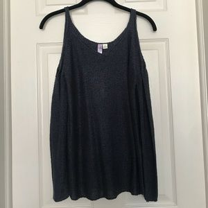 NWT open shoulder knit sweater